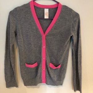 Girls Cat & Jack Cardigan jacket pink grey 10 12 L